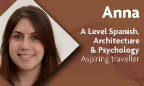 a level spanish architecture and psychology student talks about her engaging and thought provoking studies at Richmond upon Thames College near Kingston