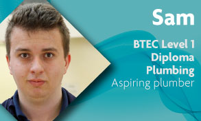btec level 1 plumbing student says his course is comprehensive and his teachers treat him as an adult at Richmond upon Thames College with easy transport links to Clapham