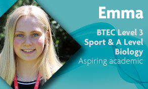 btec level 3 sport and a level biology student prepares to study sports science at university and for a career in sport at Richmond upon Thames College near Clapham