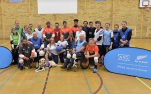 All Blacks stars and other members of the AIG Goalball team visit RuTC Sports Hall 3 Nov 2017