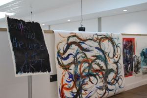 Art and Design Students Display Work in College's New Art Gallery