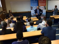 Sir Vince Cable addresses politics students
