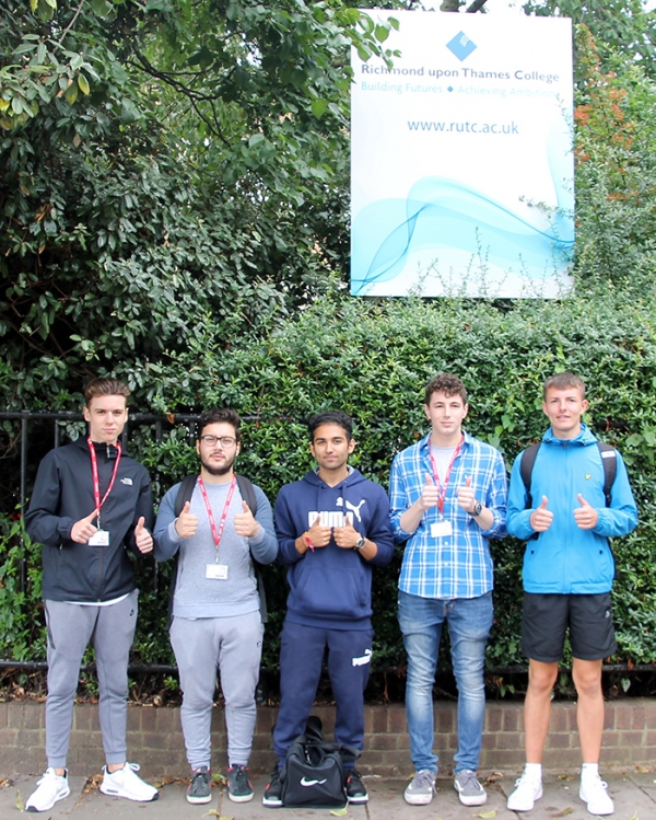Celebrating results at Richmond upon Thames College