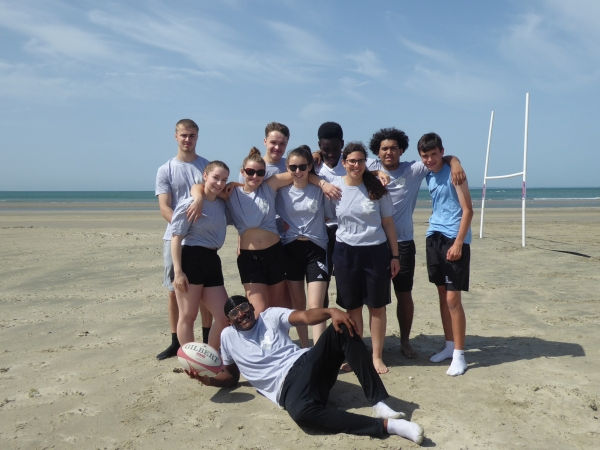Students compete at West Wittering Beach Rugby Tournament