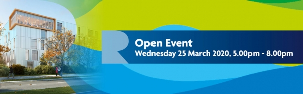Open Event: Wed 25 March 2020