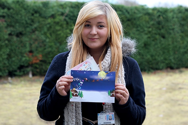 Christmas card success for Patrycja