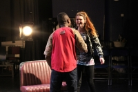 Brechtian style performance by year 2 drama students makes audience reflect