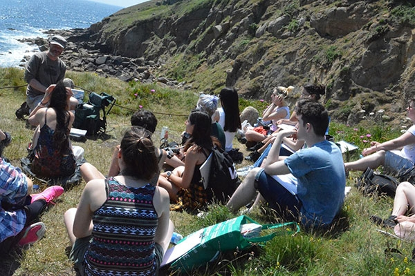 Fine Art and Graphic Design students visit Cornwall