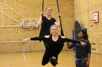 Dance students enjoy aerial masterclass