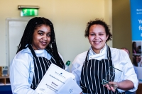 Thea Morales and Renee Williams-Genas from The Norwood School, winners of the Richmond upon Thames College (RuTC) Young Chef of the Year Competition