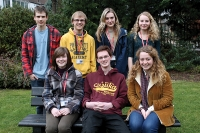 Cambridge success: L-R: Matthew Judge, Paul Alexander, Martha Aitken and Jocelyn Major (back row). Jessica Ginn, Bradley Doyle and Isabella Lindsley (front row). Joe Brennan not pictured.