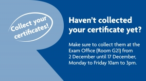 Haven't collected your certificate yet?