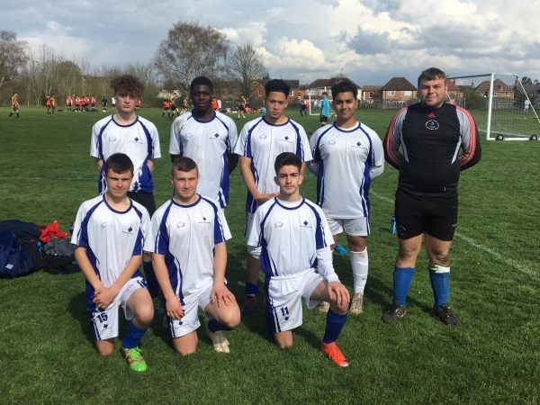 Men's Football Academy Team competes at Strode's College