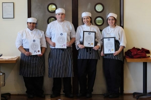 Gold medals for catering students at Salon Culinaire