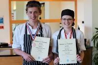 Catering students Freddie Davis and Abbie Coggins