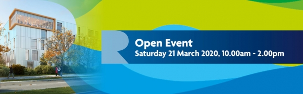 Open Event: Sat 21 March 2020