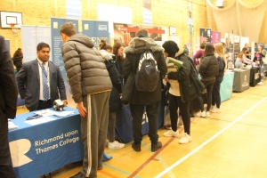 Richmond students get advice at college's HE & Careers Fair