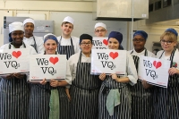 Catering students celebrate VQ Day