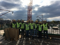 Students Visit New Build Site