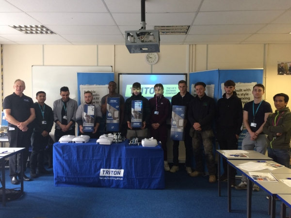 Triton Showers visits Plumbing students and apprentices