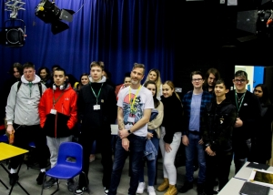 Creative Media Production (TV and Film) UAL Level 3 students with freelance Assistant Director, Nick Simmonds